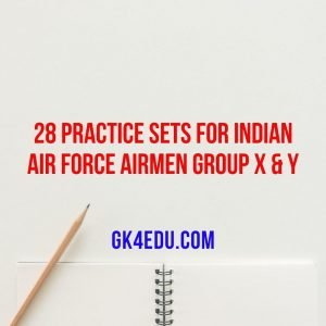 28 practice sets for indian air force airmen group x & y