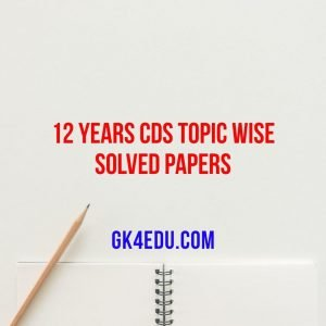 12 years topic wise solved papers