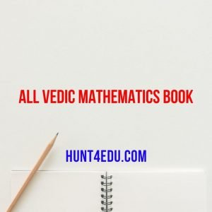 all vedic mathematics book