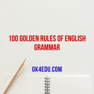 100 golden rules of english grammar