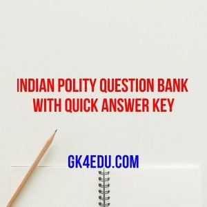 indian polity question bank with quick answer key