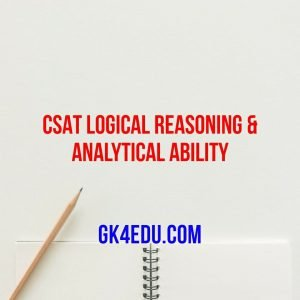 csat logical reasoning & analytical ability